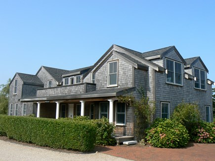 Brant Point Nantucket vacation rental - Front of home with parking on the bricks for multiple cars