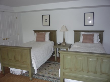 Brant Point Nantucket vacation rental - Twin bedroom #2 with ensuite bath tub and shower