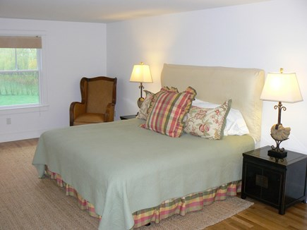 Brant Point Nantucket vacation rental - King bedroom with TV with ensuite bath, tub and shower