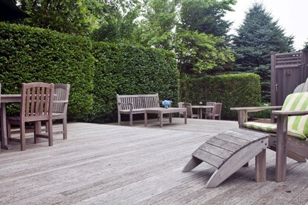 Tom Nevers, Sconset Nantucket vacation rental - Huge deck w/many seating areas + furniture