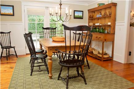 Tom Nevers, Sconset Nantucket vacation rental - Dining Room, seats 8 comfortably and opens up to deck