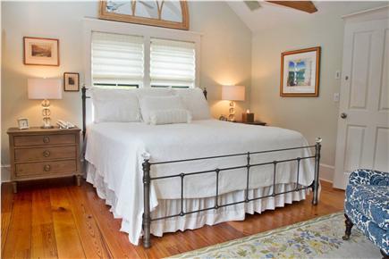 Tom Nevers, Sconset Nantucket vacation rental - Master Bdrm- King bed ,deck w/water views, flatscreenTV