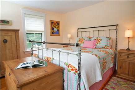 Tom Nevers, Sconset Nantucket vacation rental - Bedroom 2 Queen with Pine Cone Hill bedding