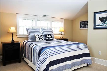 Tom Nevers, Sconset Nantucket vacation rental - Bedroom 3 Queen, flat screen TV, distant ocean views
