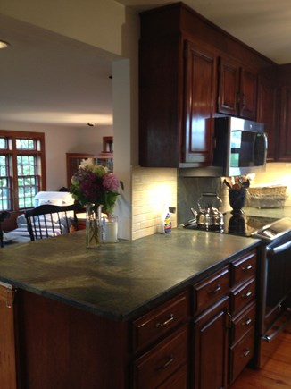 Quidnet Nantucket vacation rental - Kitchen with Granite and Stainless Steel Aplliances