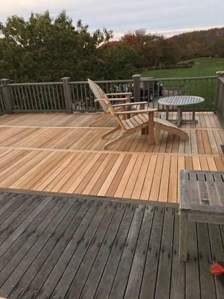 Quidnet Nantucket vacation rental - Upstairs Deck off of Master Bedroom Overlooks Back Yard