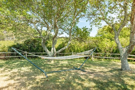 Quidnet Nantucket vacation rental - Relax in the hammock at the back of the yard