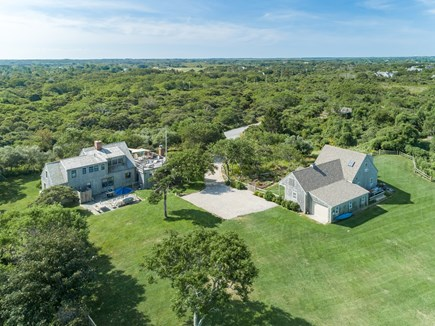 Quidnet Nantucket vacation rental - Aerial view looking south over the Moors