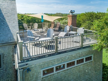 Quidnet Nantucket vacation rental - Upstairs deck off of Master Bedroom with sun shade