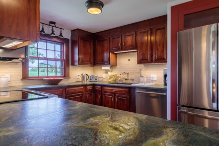 Quidnet Nantucket vacation rental - Kitchen with stainless steel appliances and granite counter tops