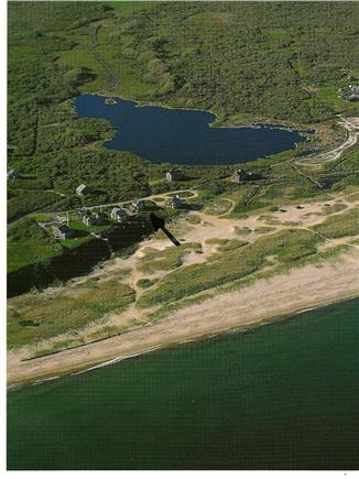 Tom Nevers Nantucket vacation rental - Aerial view from ocean showing Tom Nevers Pond