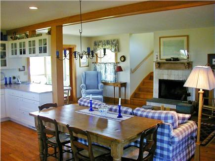 Tom Nevers Nantucket vacation rental - Living room with woodburning fireplace