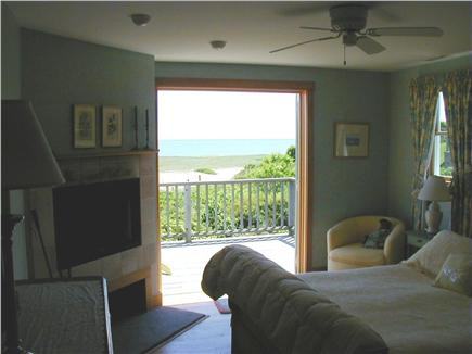 Tom Nevers Nantucket vacation rental - Master bedroom with fireplace and deck