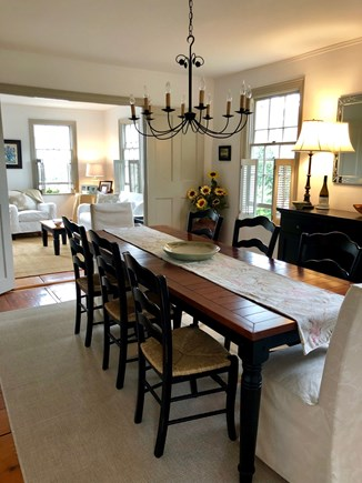 Siasconset Nantucket vacation rental - Dining room ( with ocean view)