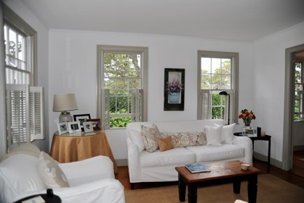 Siasconset Nantucket vacation rental - Living room ( with ocean view)
