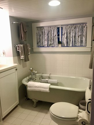 Siasconset Nantucket vacation rental - First Floor full bath with claw foot tub and separate shower