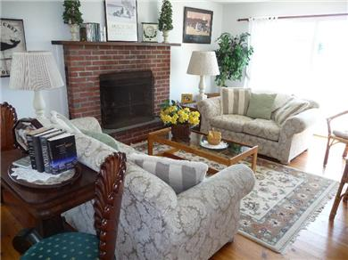 Nantucket town, Cliff Area-Edge of Town Nantucket vacation rental - Living Room with Fireplace