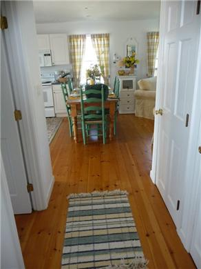 Nantucket town, Cliff Area-Edge of Town Nantucket vacation rental - Hallway Between Kitchen & Living Room. Powder Rm/Laundry on Left