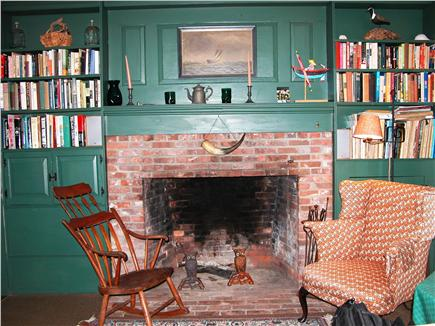 Nantucket town, Cliff Rd Nantucket vacation rental - The ''Old'' cozy Living Room with working fireplace