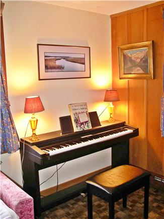 Nantucket town, Cliff Rd Nantucket vacation rental - New Living Room also contains a Yamaha Clavinova Digital Piano
