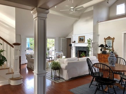 Tom Nevers Nantucket vacation rental - Bright and sunny living room combines elegance & beachy chic