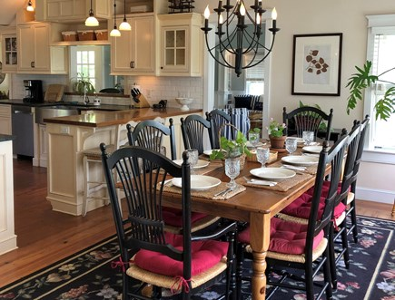Tom Nevers Nantucket vacation rental - Spacious dining area looking into gourmet kitchen and family room