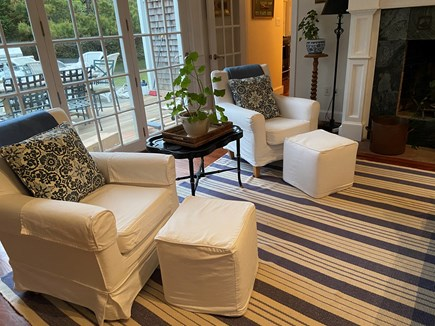 Tom Nevers Nantucket vacation rental - Comfortable seating by the living room fireplace
