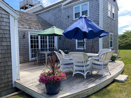 Tom Nevers Nantucket vacation rental - Back deck with gas grill and outdoor shower