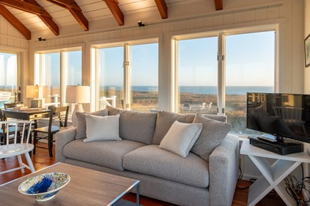 Madequecham, Nantucket Nantucket vacation rental - Spacious living room faces the ocean