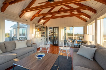 Madequecham, Nantucket Nantucket vacation rental - Living room features dual luxurious sofas and a gaming table