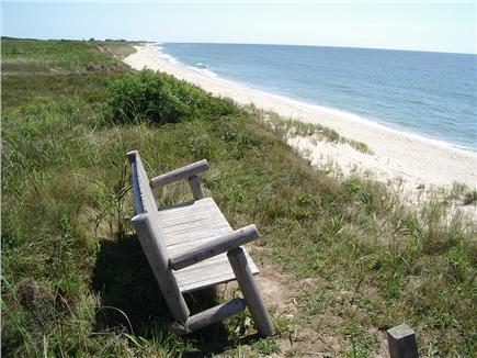 Madequecham Nantucket vacation rental - Bench on bluff
