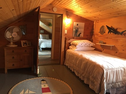 Siasconset Nantucket vacation rental - North dormer with single twin bed.