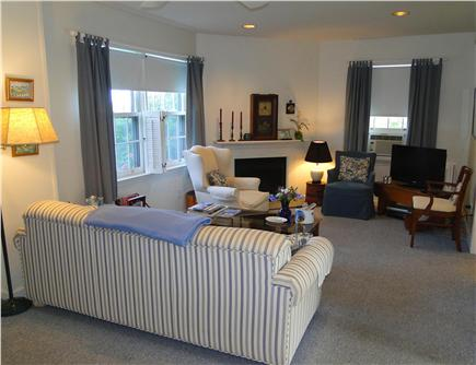 Mid Island Madaket   Nantucket vacation rental - Spacious living room with flatscreen TV, gas fireplace & AC