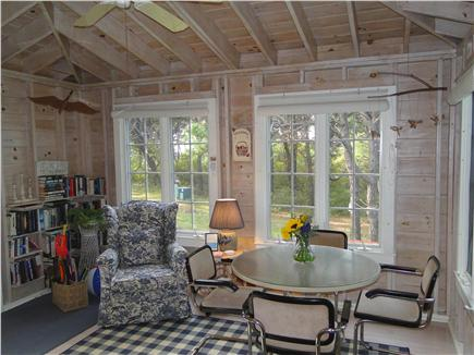 Mid Island Madaket   Nantucket vacation rental - Bright vaulted sunroom where many meals are enjoyed