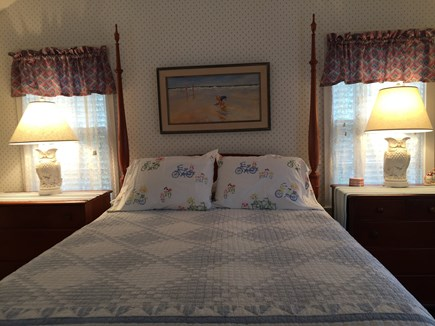 Nantucket Town Lily Street Nantucket vacation rental - Four Poster Upstairs Queen Bedroom with Full Bath