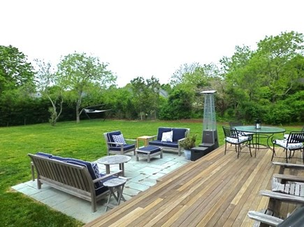 Cisco - Miacomet, Hummock Pond Nantucket vacation rental - Back Deck - Plenty of outside seating. Large Table on deck.