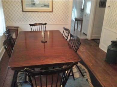 Nantucket town Nantucket vacation rental - Dining Room,new pine floor, not shown