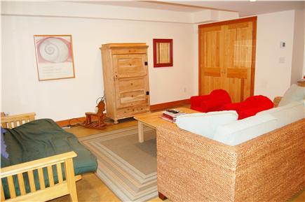 Polpis, Nantucket Nantucket vacation rental - Lower Living Room, TV in armoire