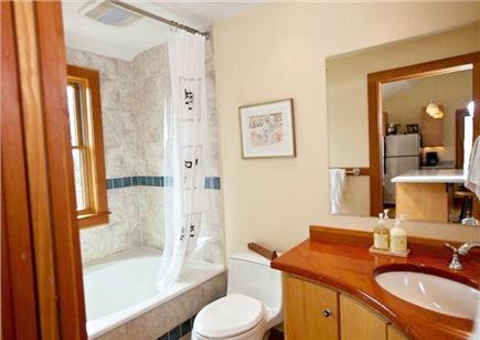 Polpis, Nantucket Nantucket vacation rental - Full bath with cast iron tub/shower, custom cabinetry