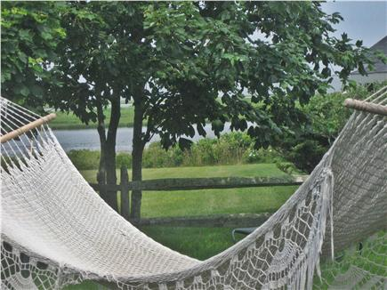 Madaket Nantucket vacation rental - Hammock with water view (between Starfish and Goldfish)