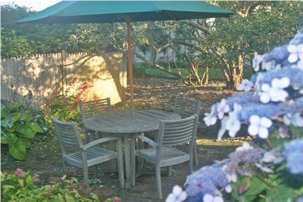 Madaket Nantucket vacation rental - Patio between Starfish and Goldfish
