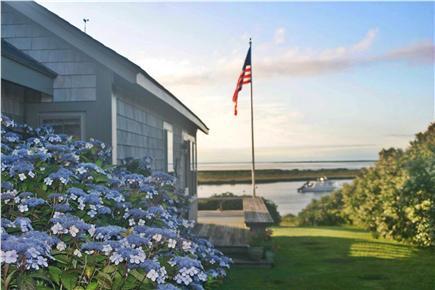 Madaket Nantucket vacation rental - Front Door and deck of Goldfish