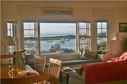 Madaket Nantucket vacation rental - Living Room with view of Hither Creek to the North
