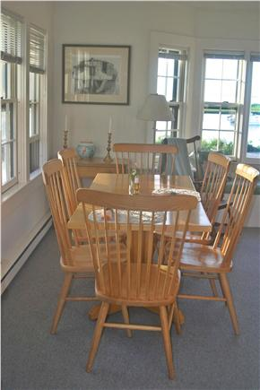 Madaket Nantucket vacation rental - Dining area at the West end of Living Room