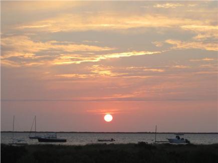 Wauwinet Nantucket vacation rental - Sunset from Deck