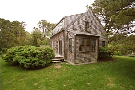 Madaket Nantucket vacation rental - Side entry to deck, lots of grass to play on