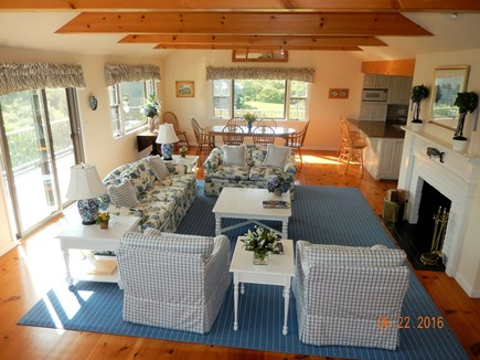 Tom Nevers, Nantucket Nantucket vacation rental - Open floor plan-upside/down house. Doors to upper decks.