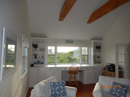 Tom Nevers, Nantucket Nantucket vacation rental - TV room work space View of moors towards S'conset low beach ocean
