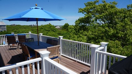 Tom Nevers, Nantucket Nantucket vacation rental - Second floor deck with views of pool, moors, ocean, Sankaty Light
