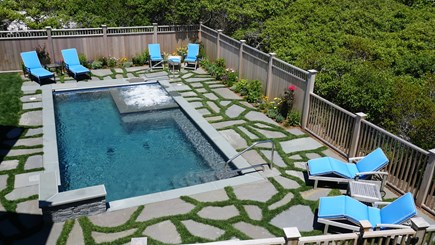 Tom Nevers, Nantucket Nantucket vacation rental - Salt water pool, spa, in pool bench, four spout water feature.
